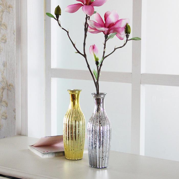 Continental goud verzilverd kleine glas vazen stijlvolle thuis woonkamer decoratie props - Thuis container verkoop ...
