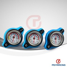 PQY STORE-FREE SHIPPING D1 Spec RACING Thermost Radiator Cap COVER + Water Temp gauge 0.9BAR or 1.1BAR or 1.3 BAR Cover(China (Mainland))