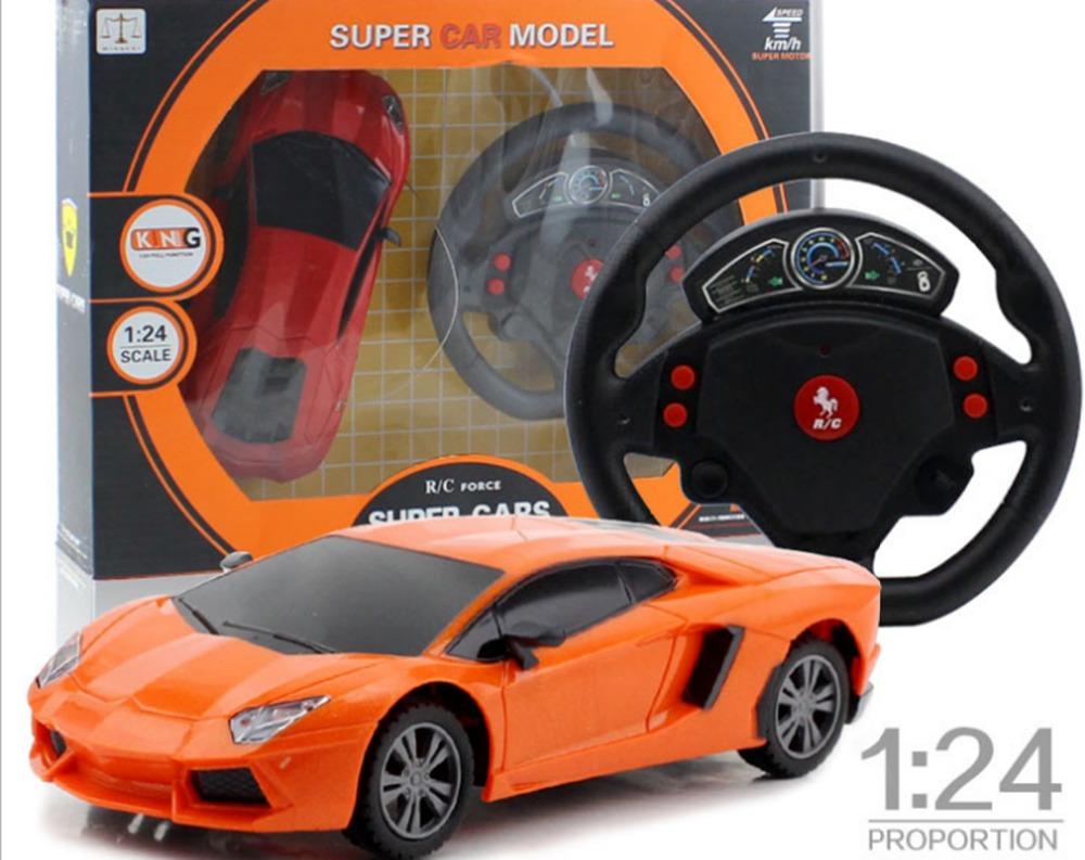 RC Mini Car Remote Control 1/24 Drift Speed Radio Steering Wheel RC Racing Car Radio-Controlled Cars RC Car + LED Light(China (Mainland))
