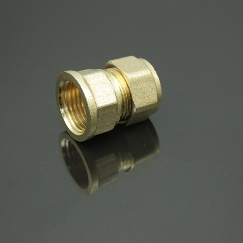 Hydraulic quick coupler s f brass union female thread