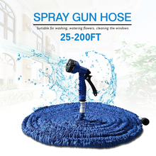 2016 Extensible Magic Flexible Garden Water Hose 100FT For Drip Irrigation Pipe Car Watering With Spray Perfect Match Gun Blue(China (Mainland))