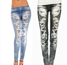 Hot New Fashion Women Seamless Printing Stretch Polyester Leggings Pants Jeans