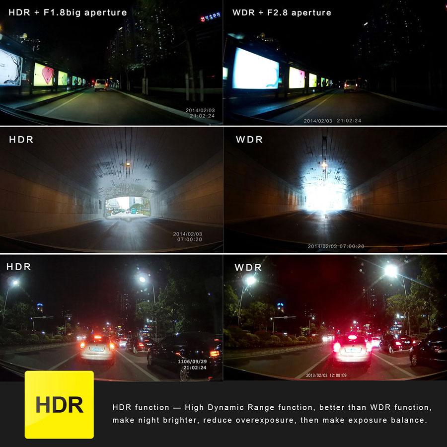 G90 Ambarella A7LA50 Car Camera DVR Recorder G90A Dash Cam 1296P/30FPS 170 Wide Angle Lens Car DVR HDR G-Sensor Night Vision