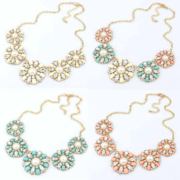 Мода TyanLo роскошные кристалл горного хрусталя в форме цветка воротник нагрудник ожерелье ювелирные изделия TyanLo