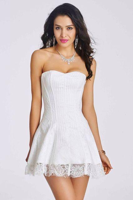 Новый сексуальный кружева корсет платья ну вечеринку платье