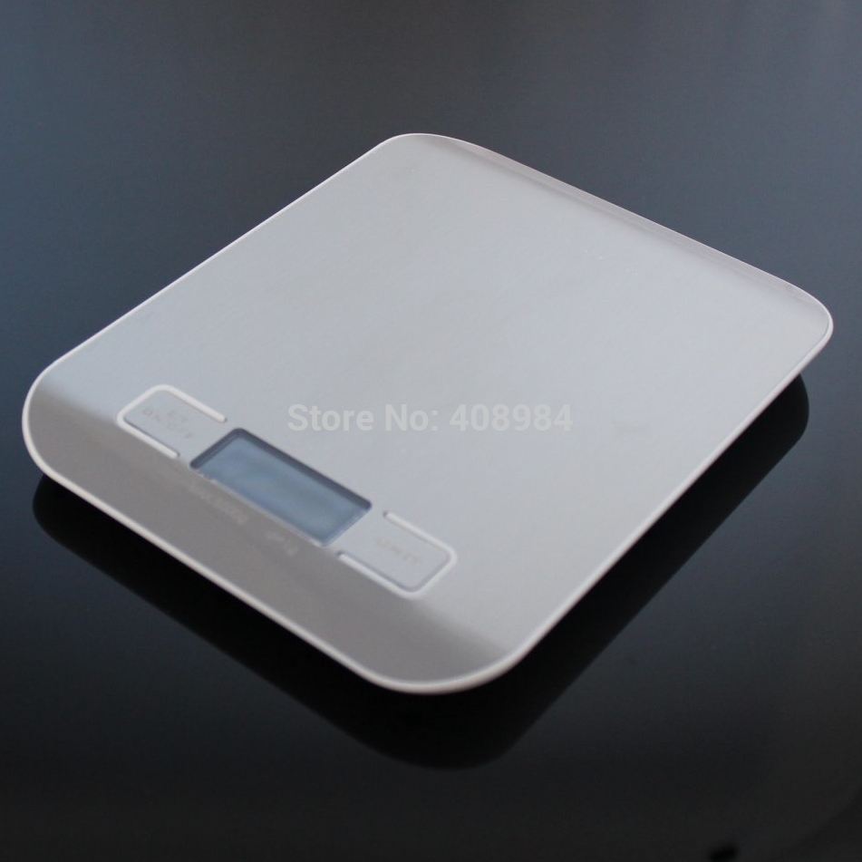 Digital Kitchen Weight Scale 5KG 1G Cooking Tools with Super slim Stainless Steel Platform electronic weight balance<br><br>Aliexpress