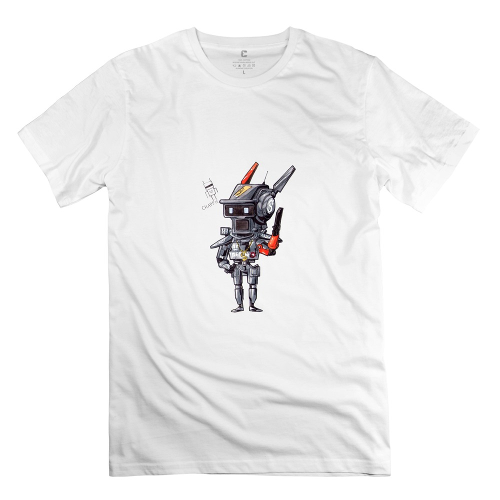 100% Cotton Classic men's Tees Shirt Cool Chibi Chappie T Shirt for Men 2015 Brand New(China (Mainland))
