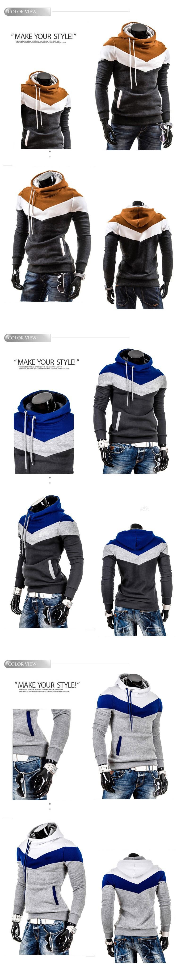 6-2015 New Arrival Hoodies Men Solid Color Fashion chandal hombre sudaderas sweatshirt men