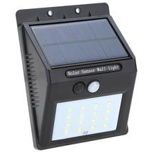 LED Solar Lamp PIR Human Motion Sensor & Light Sensor Solar Light 16 LEDs Light Outdoor Path Wall Lamp Security Spot Lighting(China (Mainland))