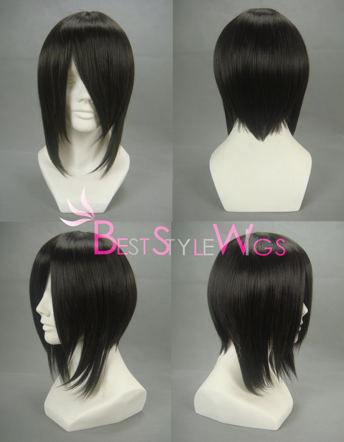 Free Shipping Synthetic Ash-Sebastian Michaelis Black Cosplay Wig<br><br>Aliexpress