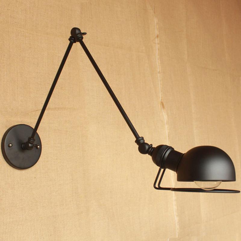 Wall Lights Long Arm : Aliexpress.com : Buy wall lamps loft vintage double long arm wall lamp lamparas de pared ...