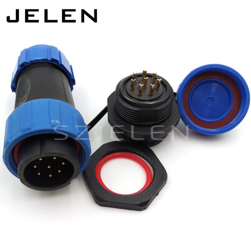SP2110, 8pin waterproof cable connector ip68 plug socket,electrical waterproof connectors,connector power 8 pin,IP67 IP68(China (Mainland))