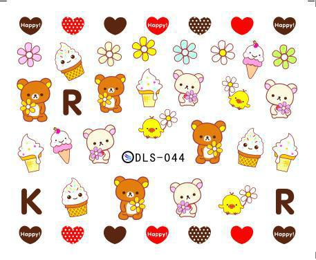 1 New 2015 cartoon nail stickers Cubs Series water transfer designs cute - Elaine's Beauty Online Store store