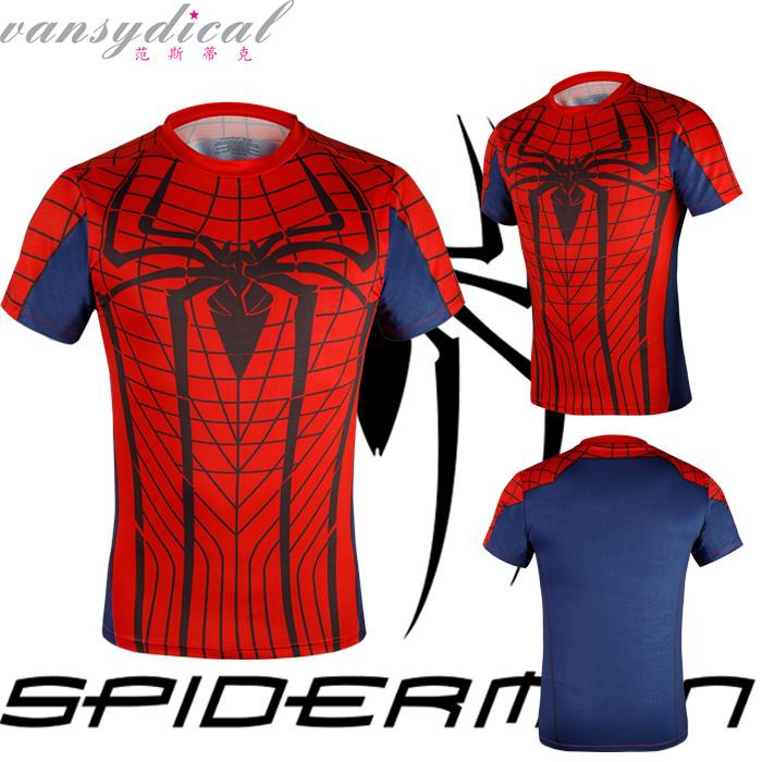 Heroes shirt Spiderman T Shirt Heroe Short-Sleeve Tops Amazing Spider-Man Peter Parker Marvel Comics Spider-man - Fitness Sport T-Shirt ST 1 store