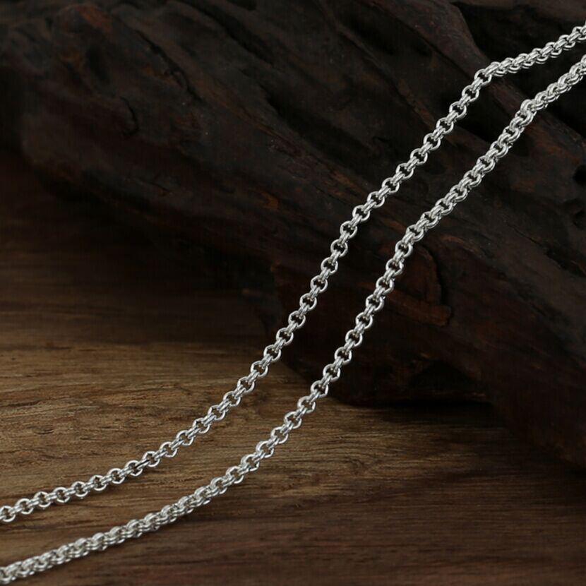 Thai Silver Necklace 925 Sterling Silver Necklace for Pendants 2mm Thai silver necklace 925 sterling silver jewelry men gift(China (Mainland))