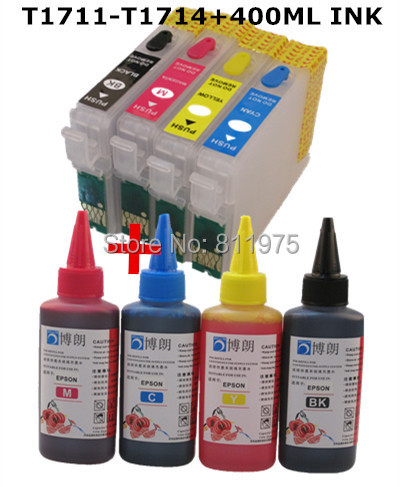 Гаджет  T1631 refillable ink cartridge for epson XP-33/XP-103/XP-203/207/XP-303/XP-306/XP-403/XP-406/XP-313/XP-413+4 Color Dye Ink 400ml None Офисные и Школьные принадлежности