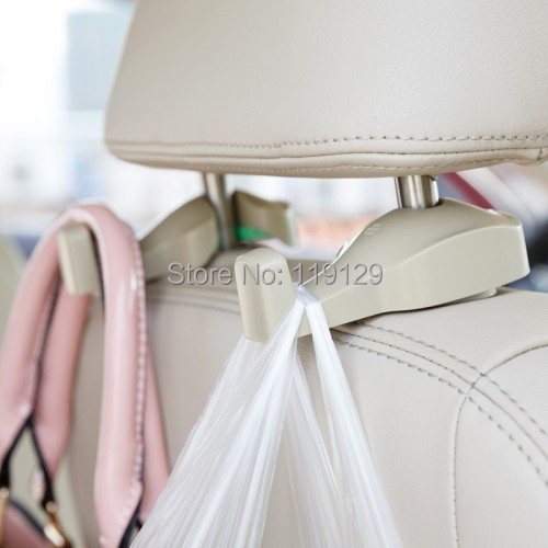 2PCS Generation Car Seat Headrest Bags Organizer Hook Auto Accessories Holder Clothes Hanging Hold hanger Free