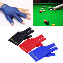 Spandex Snooker Billiard Cue Glove Pool Left Hand Open Three Finger Accessory free shipping(China (Mainland))