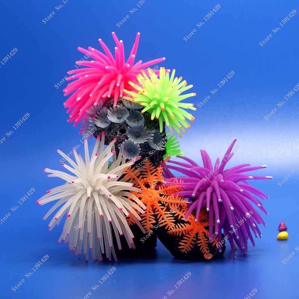 Hot Sale 1000pcs Aquarium Fish Tank Coral Plant Underwater Ornament 4 colors(China (Mainland))