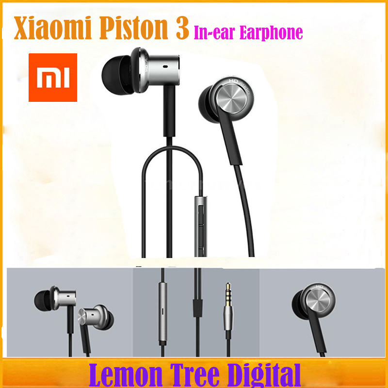 Original XIAOMI Hybrid Piston Dual Driver Earphone Stereo Headphone Headset Circle Iron Noise Cancelling Mic For Xiao Mi Samsung