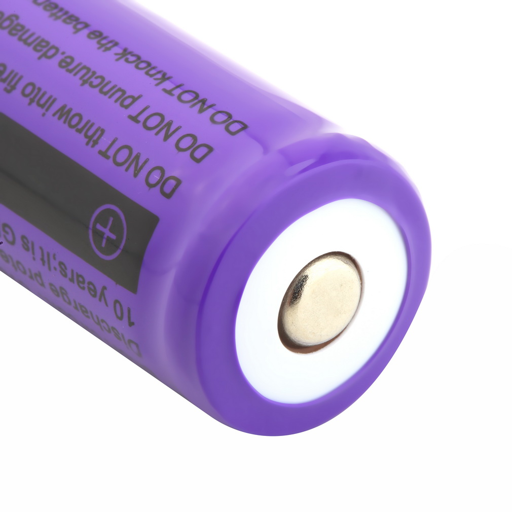 1 PCS 4900 mAh Rechargeable Li ion Battery 18650 3 7V Purple For Flashlight Torch Brand