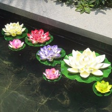 7pcs/Lot Artificial Plastic Flowers Fake Bouquet Lotus for Wedding Garden Pond Decoration Manualidades Flores Plants Water Lily(China (Mainland))