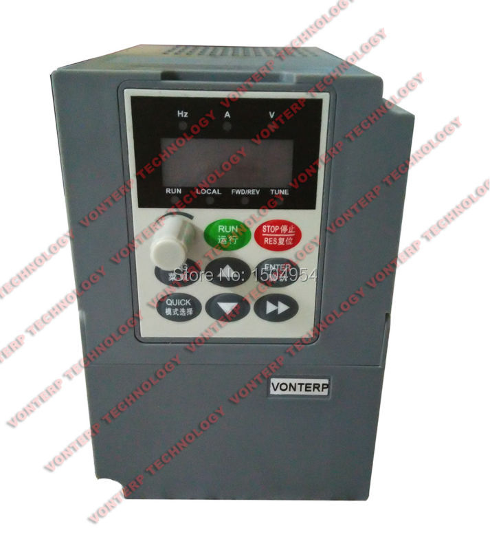 Фотография Variable speed drive /variable frequency drive/ac drive 220v 4.5A  single phase input and 220v 3 phase output