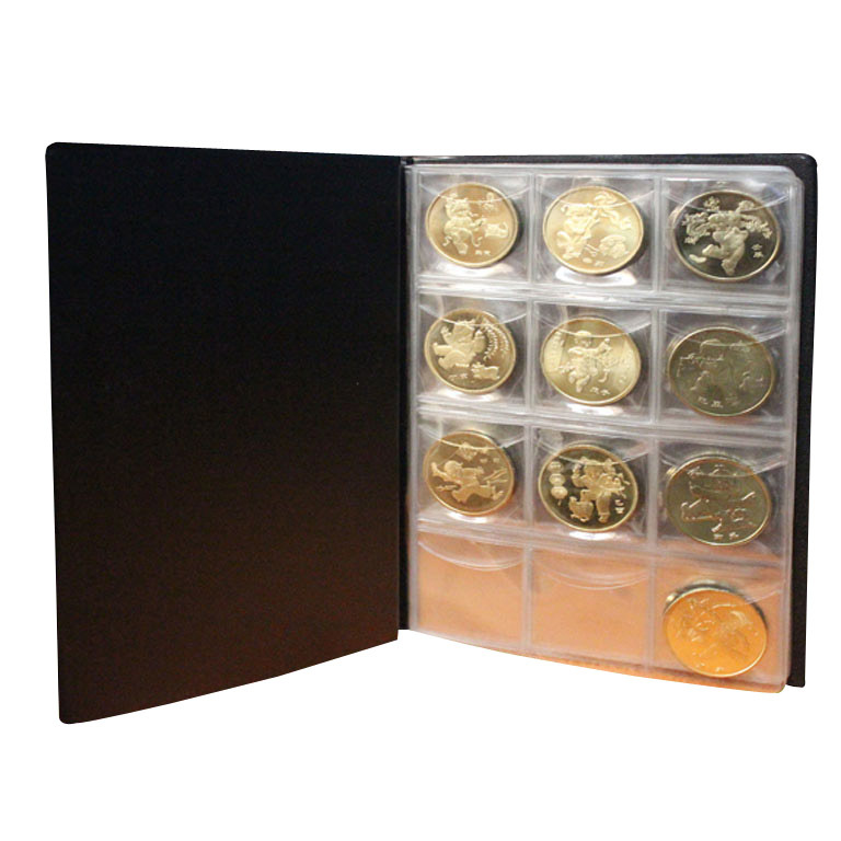 Useful Money Penny Pockets 120 Coin Holders Collection Storage Album Book Supply Random Color(China (Mainland))