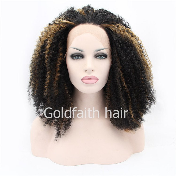 SF1 Blonde Dip Dyed White Wig Spiral Curly Ombre Wig Lace Front Curl Intense Wig Synthetic Hair Heat Resistant Wig Natural<br><br>Aliexpress