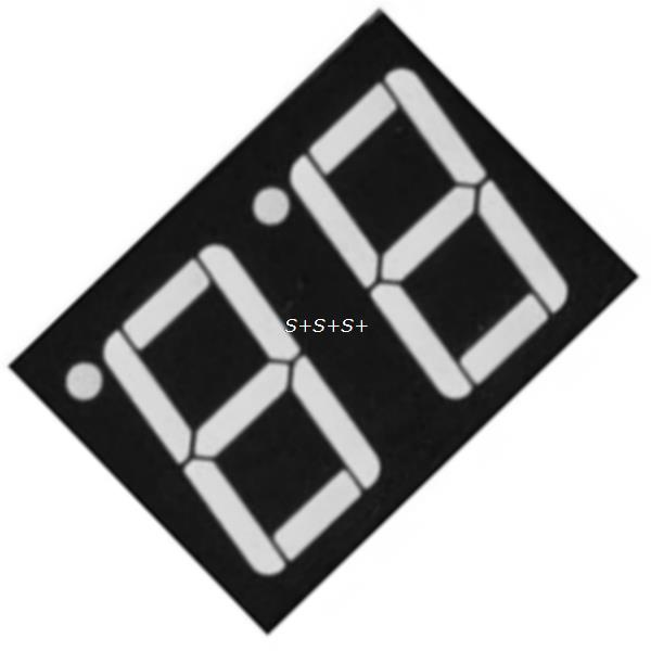 0.56inch 2bit Common Cathode Digital Tube Red LED Digit Display 7 Segment 0.5inch 0.5 0.56 inch 0.56'' 0.56in. two 2 bit(China (Mainland))