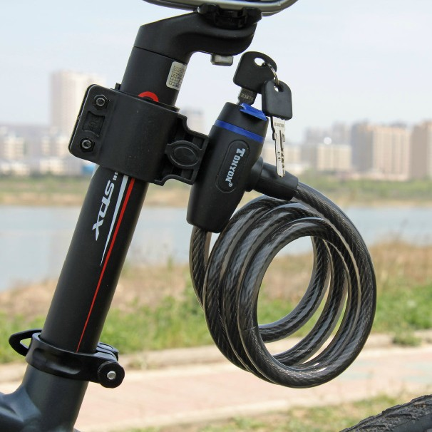 1PC High Quality Lenght=120cm Steel Wire Rope Bicycle Lock & Bike Lock Cable For Mountain Bike TONYON Lock(China (Mainland))
