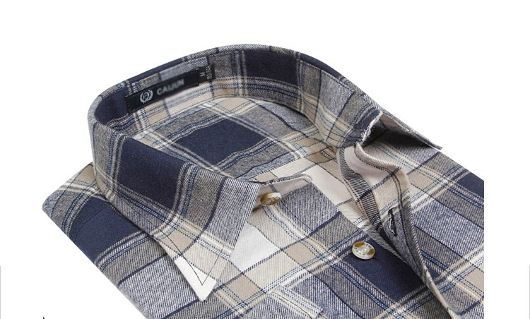 Men's Long Sleeve Plaid Shirts Flannel (8)