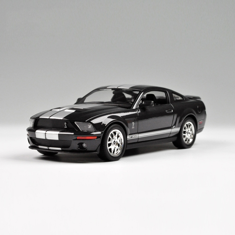 Diecast Model Mustang GT500 Black 1:24 Alloy Car Model Toy Vehicle Car Models Alloy Models Kid Cars Toys gift Toy car(China (Mainland))