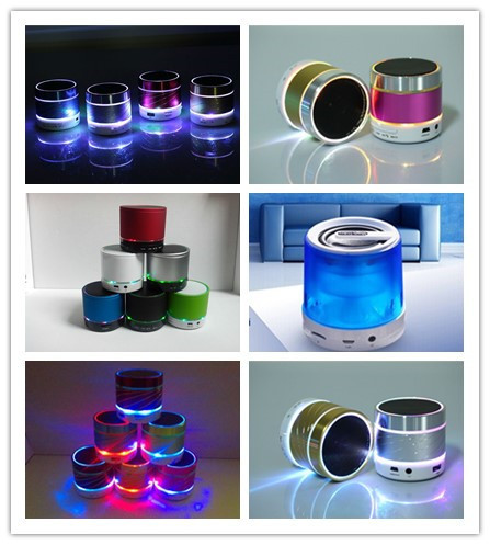 Newest Portable Speaker wireless led led bluetooth speaker with LED flash light(China (Mainland))