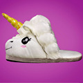 Free Shipping Plush Shoes 1Pair Plush Unicorn Slippers for Grown Ups Winter Warm Indoor Slippers Home