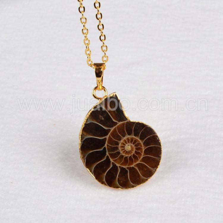Здесь можно купить  2015 New Ammonite Pendant Bead Golden Electroformed Fashion Jewelry  Pendant  Ювелирные изделия и часы