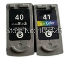 2PK PG-40 CL-41 Ink Cartridge for Canon PG40 CL41 Black & Color For Canon PIXMA MP160 MP140 MP450 MX300 MX310 IP1600 IP1900