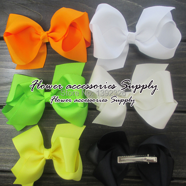 Flowers Supply 240pcs/lot 6 Grosgrain Ribbon HairBows WITH Alligator Clip Kid Hair Accessories Hair BowsОдежда и ак�е��уары<br><br><br>Aliexpress