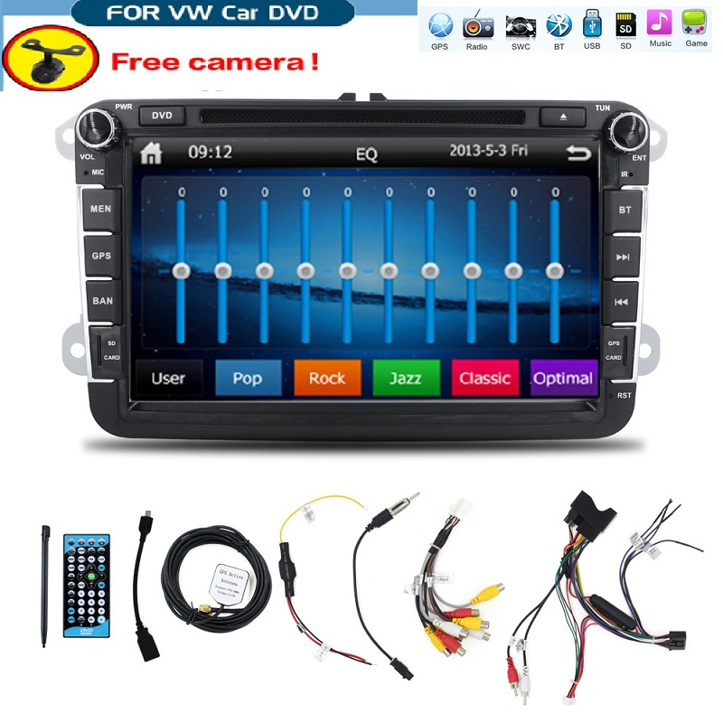 2 din 8'' for VW SPORTLINE car dvd player with GPS touch screen ,steering wheel control,ipod,stereo,radio,usb,BT(China (Mainland))