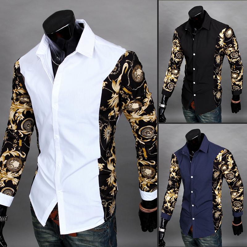 Men Spring 2014 Men Dress Shirt Fashion Men Long Sleeve Shirt Slim Fit Shirt Camisa Social