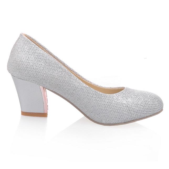 Chunky Silver Heels