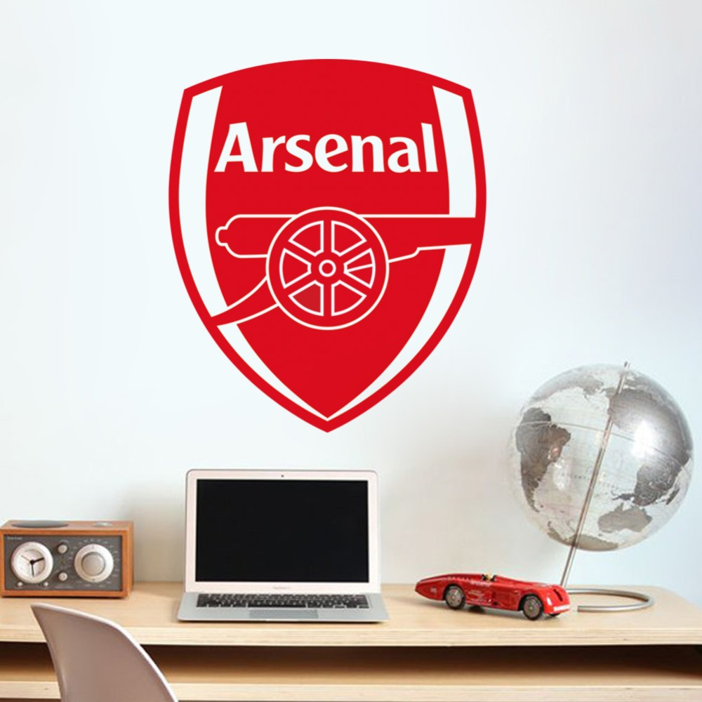 Arsenal Living Room Wall Stickers For Kids Rooms Mural Art Home Decor Logo Vinyl Stickers Decorative Removable Wall Decals(China (Mainland))