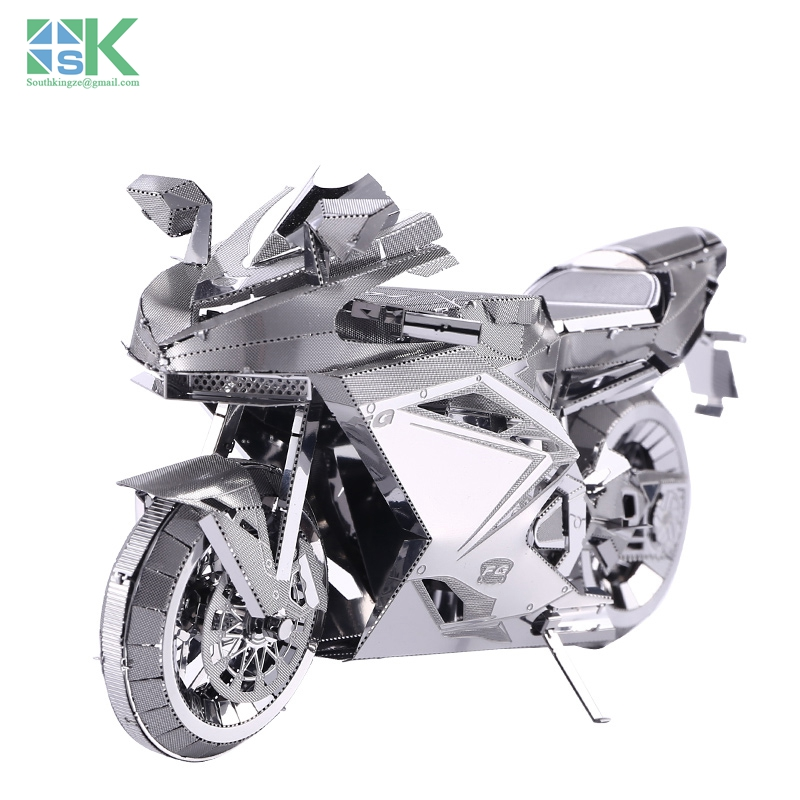 2016 New SK MOTORCYCLE II 3D metal model etching puzzle pieces of creative gifts DIY assembled stainless steel Challenge DIY M(China (Mainland))