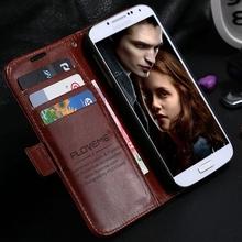 Ретро ума-лошадь кожа флип чехол для Samsung Galaxy S4 i9500 / S4 мини-i9190 аксессуары кошелек стенд