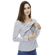 MamaLove Fashion Maternity Clothes Maternity Tops/ t shirt Breastfeeding shirt Nursing Tops pregnancy clothes for pregnant women(Hong Kong)