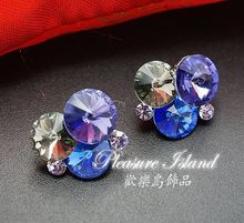 New Genuine original single color satellite stone crystal earrings free shipping
