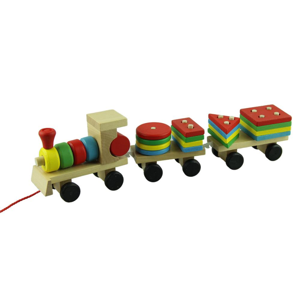Гаджет  Amazing Educational Wooden Toys Children Wooden Stacking Train Wooden Blocks Baby Early Learning Toys 1 set None Игрушки и Хобби