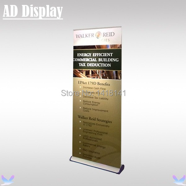 80*200cm Premium Wide Base Aluminum Roll Up Retractable Banner Display,Tradeshow Durable Advertising Stand,Exhibition Equipment(China (Mainland))
