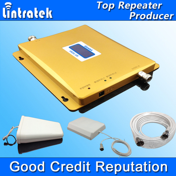HOT LCD Display 3G W-CDMA 2100MHz + GSM 900Mhz Dual Band Mobile Phone Signal Booster GSM 900 2100 UMTS Signal Repeater Amplifier