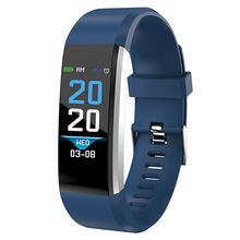 Pulseira inteligente relógios de pulso monitor de freqüência cardíaca pressão arterial das mulheres dos homens relógio digital esporte para ios android telefone(China)